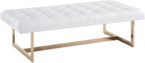 """The """"Oppland"""" Bench in White"""