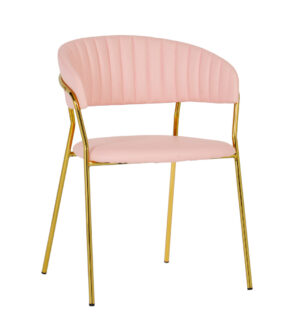 "The ""Padma"" Chair in Blush Vegan Leather – Set of 2"