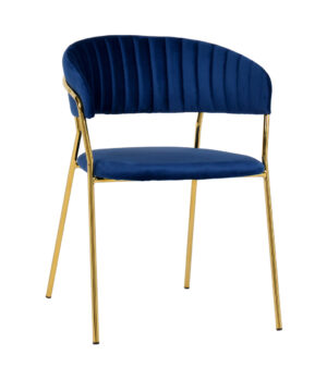 "The ""Padma"" Chair in Navy Velvet – Set of 2"