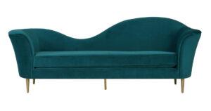 """The """"Plato"""" Sofa in Aqua Velvet"""