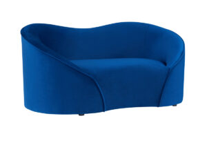 "The ""Poodle"" Pet Bed in Navy Velvet"