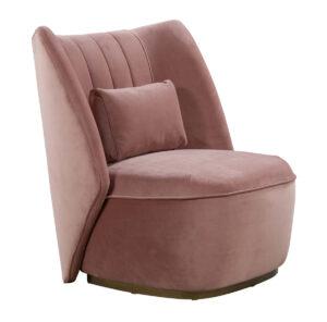 """The """"Reiko"""" Lounge Chair in Blush Velvet"""