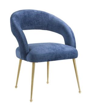 """The """"Rocco"""" Chair in Slub Navy Velvet"""