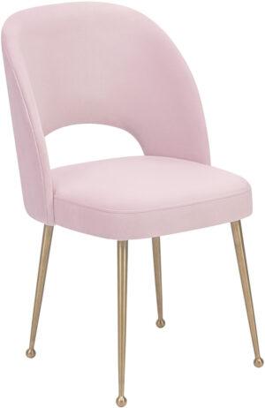 """The """"Swell"""" Chair in Blush Velvet"""
