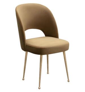 """The """"Swell"""" Chair in Cognac Velvet"""