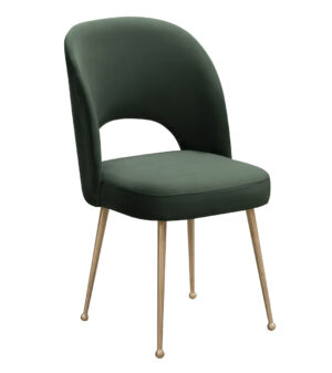 "The ""Swell"" Chair in Forest Green Velvet"