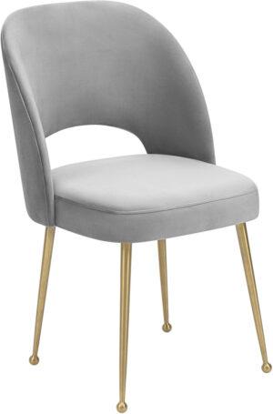"""The """"Swell"""" Chair in Light Grey Velvet"""