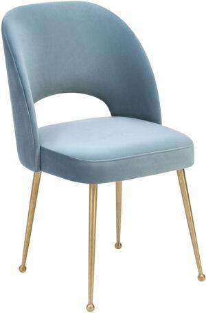 "The ""Swell"" Chair in Sea Blue Velvet"