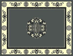 """""""Taj Mahal 119"""" Rug in Grey, Available in Two Sizes"""