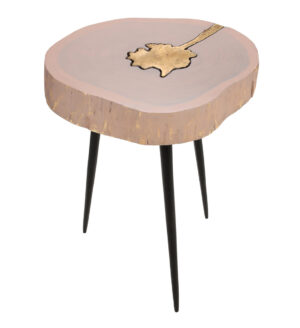 "The ""Timber"" Side Table in Pink"
