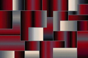 """Trendz 861"" Rug in Red, 6′ x 8′"