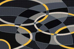 """""""Trendz 864"""" Rug in Yellow, Available in Two Sizes"""