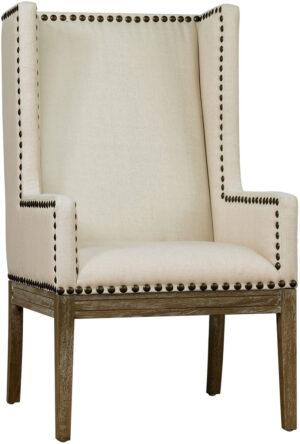 """The """"Tribeca"""" Chair in Beige Linen"""