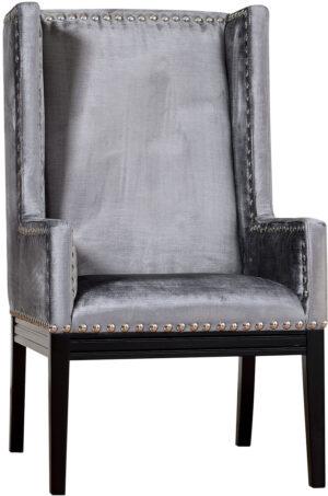 "The ""Tribeca"" Chair in Grey Velvet"