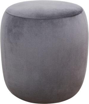 """The """"Willow"""" Ottoman in Grey Velvet"""
